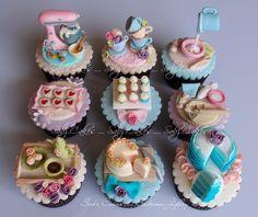 Baking theme cupcakes SabzCakes