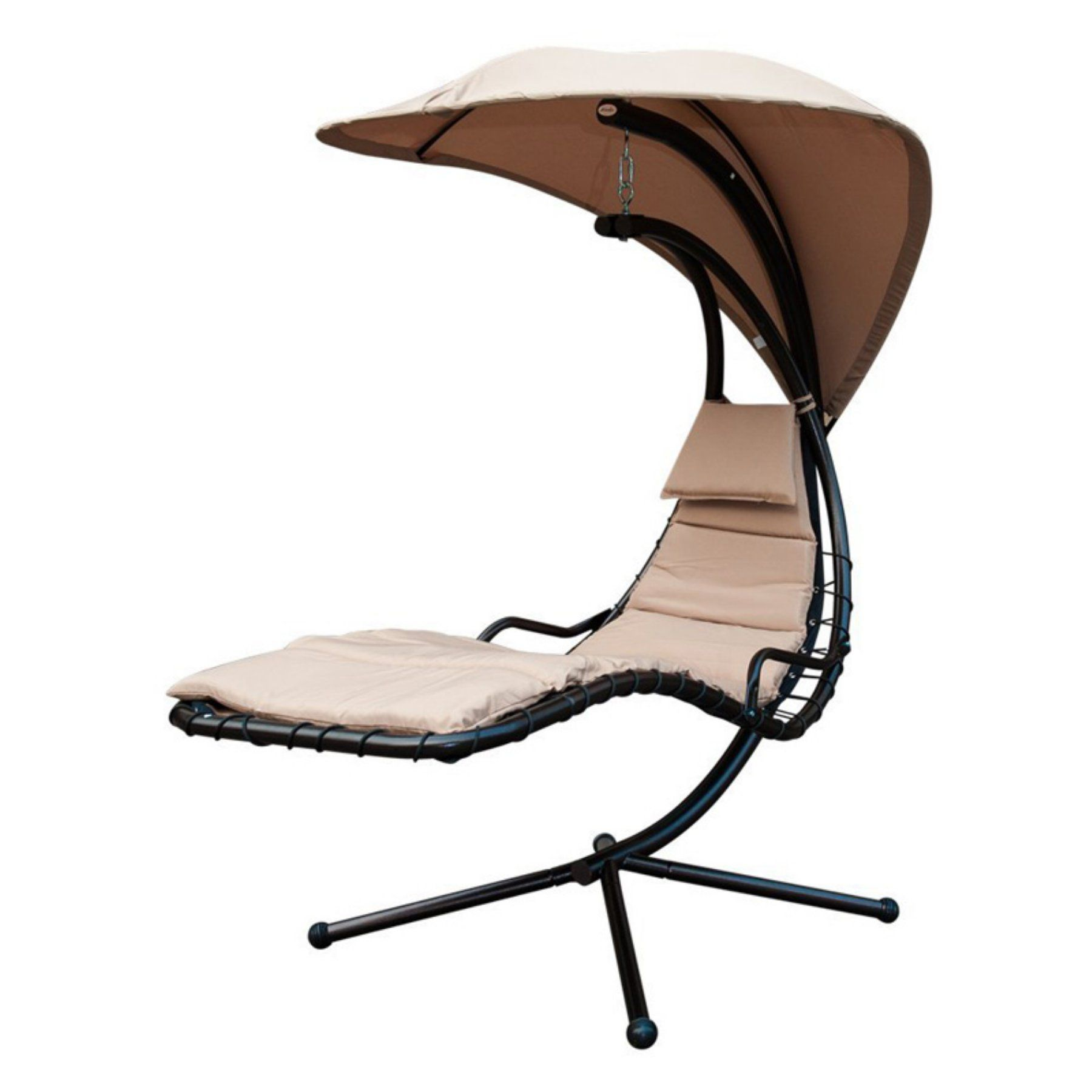 Sunlife Sling Lounger Hanging Chair With Arc Stand Canopy