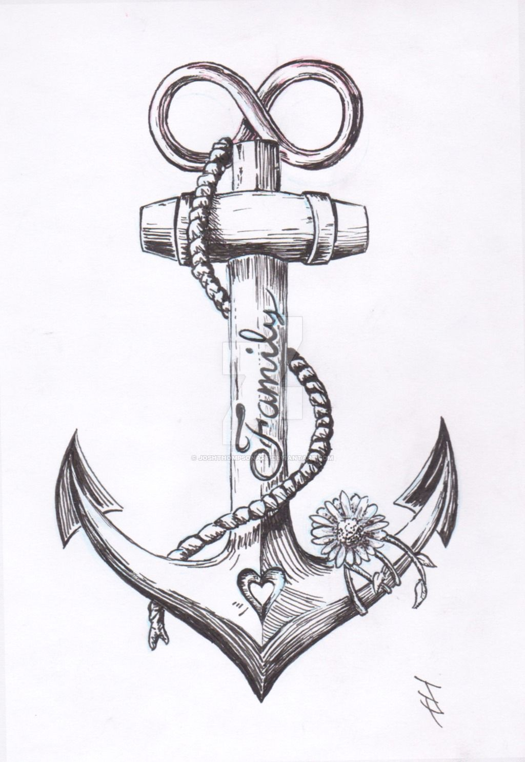 Anchor drawings for tattoos images for Black anchor tattoo la