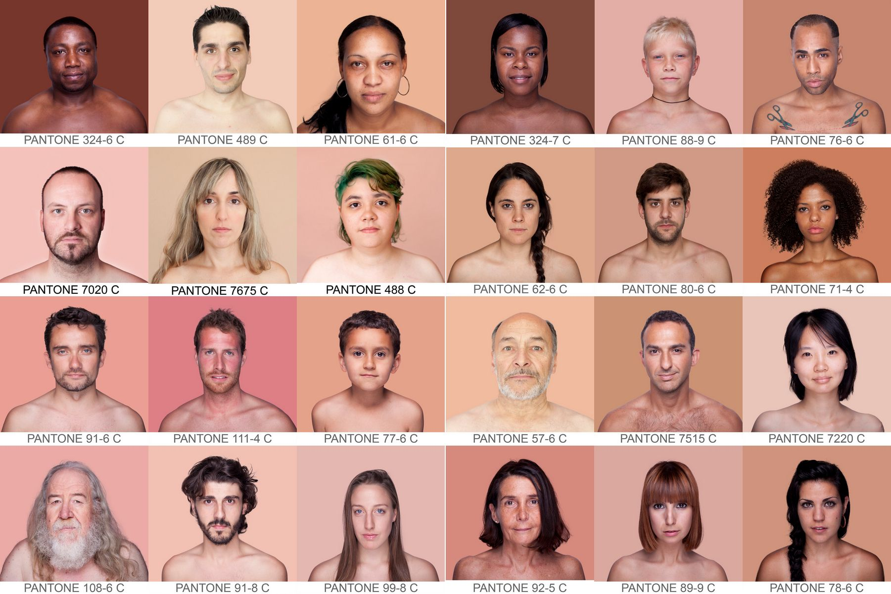 Pantone SkinTone Guide NEW 110 skin colour shades of human skin tones