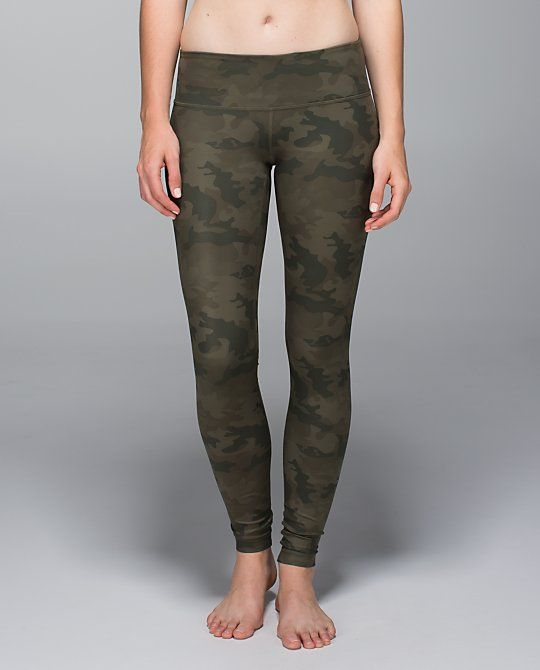 80c8b6448131d Wunder Under Pant  Full-On Luxtreme - savasana camo 20cm fatigue green -  Size 6