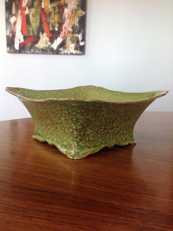Royal winton grimwades antique green bowl with flower pattern gilt royal winton grimwades antique green bowl with flower pattern gilt 1930s reviewsmspy