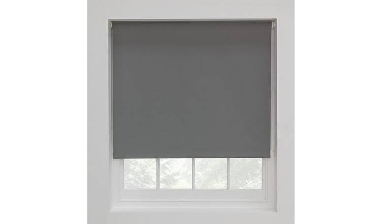 Argos Home Blackout Roller Blind 2ft Flint Grey Roller Blinds Roller Blinds Bathroom Grey Roller Blinds