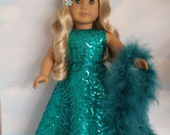 18 inch doll clothes 705 GLINDA Gown handmade to von susiestitchit