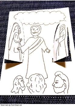 Jesus Transfiguration Sunday School Coloring Pages Sunday
