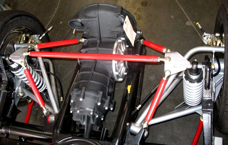 """Mendeola's True Track rear suspension kits are the perfect match for our """"A""""-arm kits. Our rear suspension kits are built to a lowered ride height so that we can set the proper camber into the rear..."""