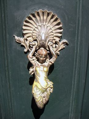 Bon Not Just Any Door Knocker     But One W/Goddesses U0026 Mermaids On Cité  Malesherbes, Near Pigalle.