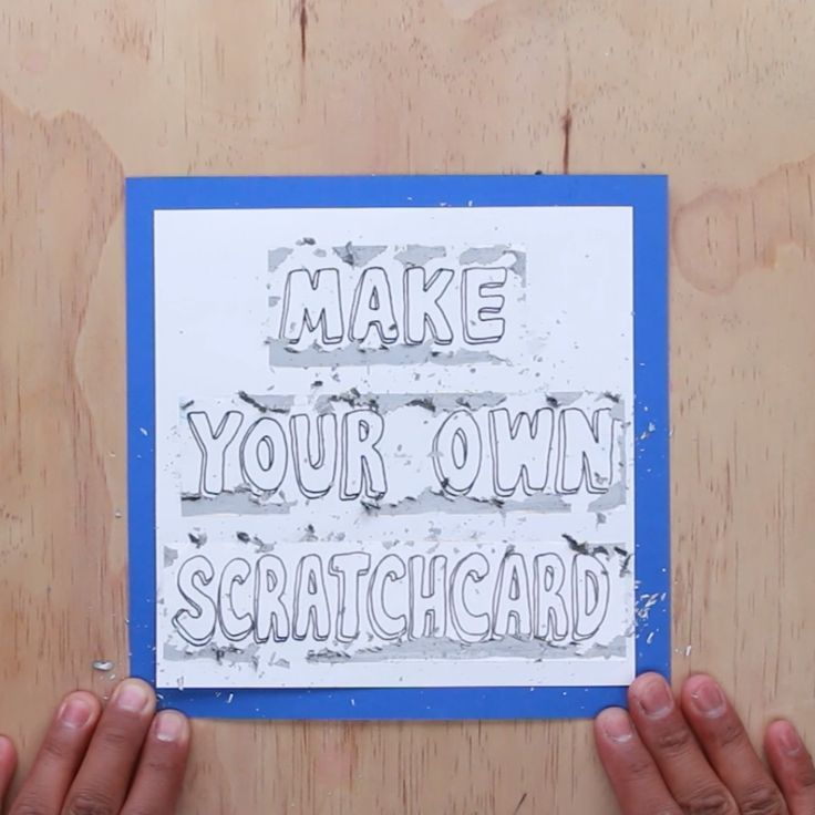 make your own scratchcard diy cards birthday