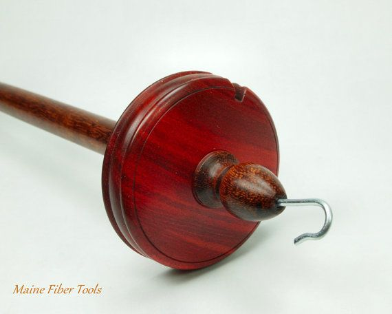 Drop Spindle Grenadillo & Redheart Hand Spindle by MaineFiberTools