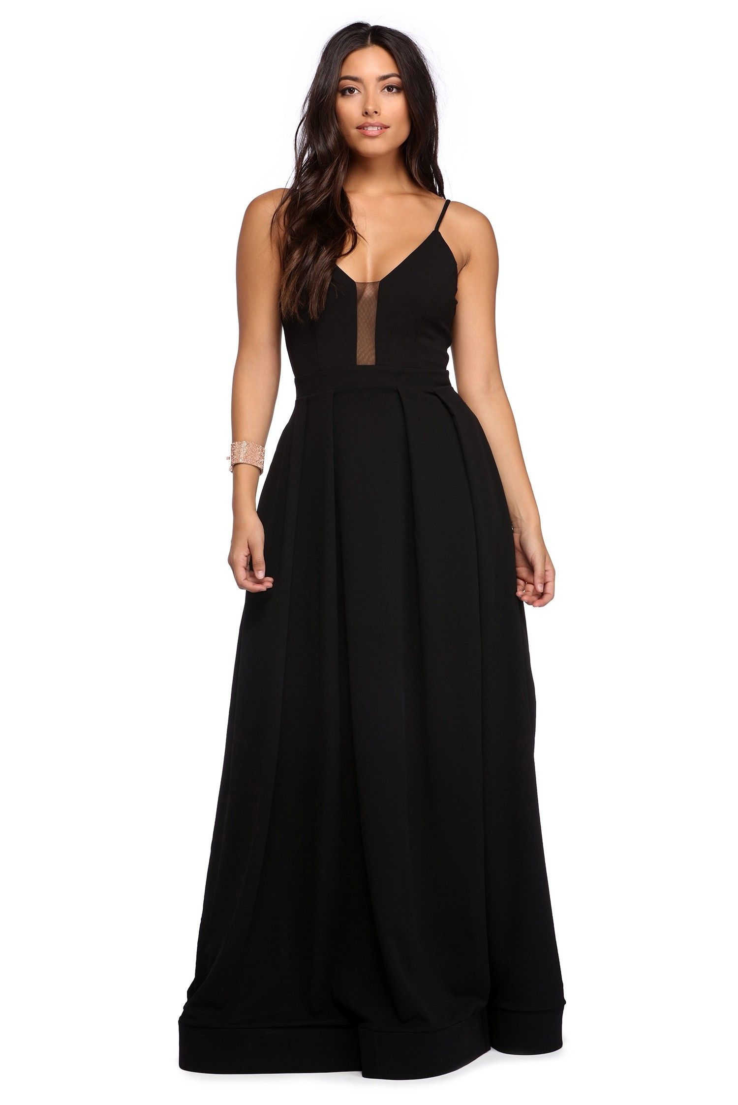 Grace black pleated crepe ball gown maxi dresses casual