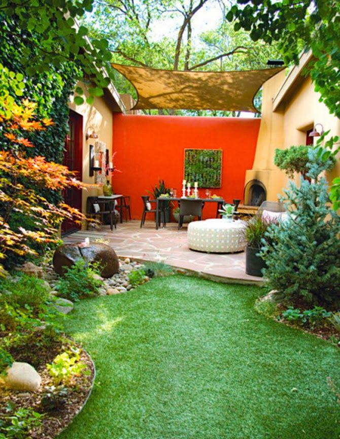 Small+Patio+with+Burlap+Curtains.jpg 670×865 pixels | Backyard ...