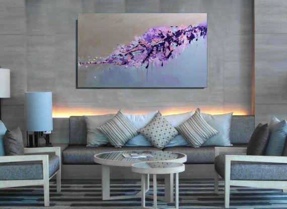 Purple Wall Art Large Wall Art Canvas Bedroom Wall Decor Purple ...