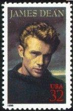 Stamp: James Dean (United States of America) (Legends of Hollywood) Mi:US…