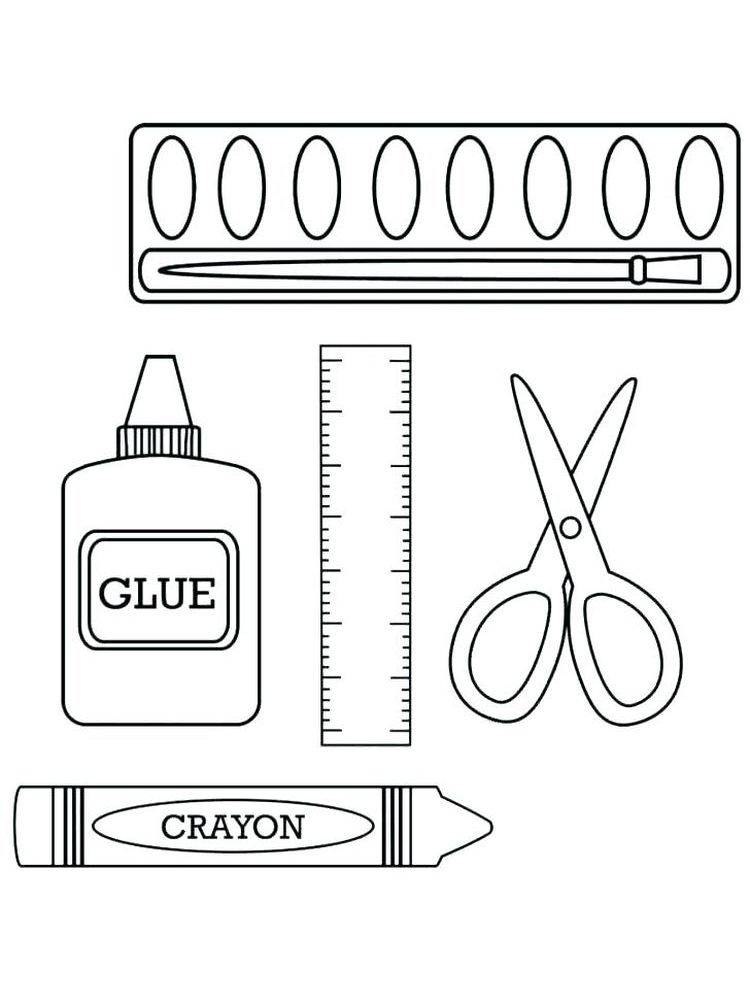 Crayons Coloring Book Pages Everyone Knows Crayons We Often Use Crayons For Coloring Besides C School Coloring Pages School Supplies Coloring Pages For Kids