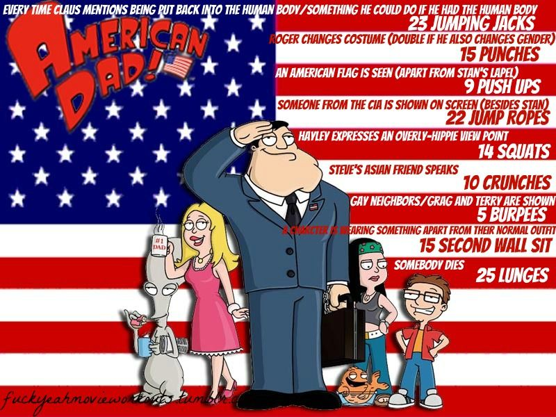 American Dad Christmas Episodes.American Dad Workout Tv Movie Workouts American Dad