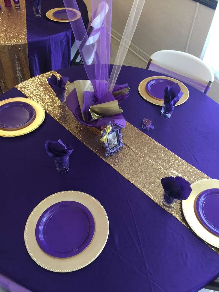 Royal Queen Birthday Party Ideas in 2019 | Purple gold ...