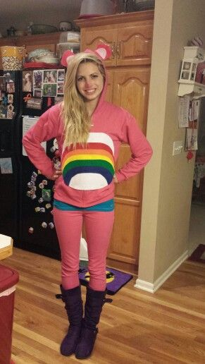 DIY Halloween Costume! Pink Carebear!  sc 1 st  Pinterest & DIY Halloween Costume! Pink Carebear! | MerSadieu0027s Boutique ...