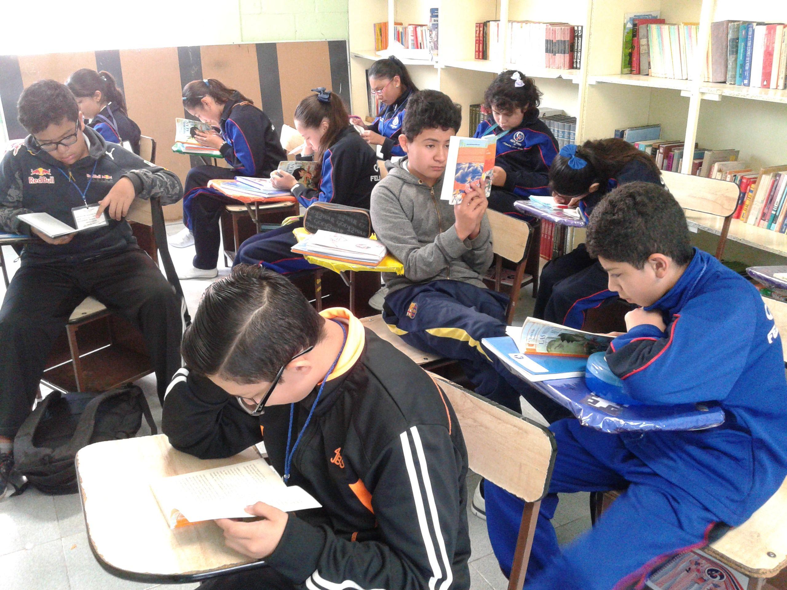 La lectura de obras literarias acerca a los estudiantes al goce estético y a la reflexión ética, desarrollando hábitos encaminados a potenciar su sensibilidad artística.