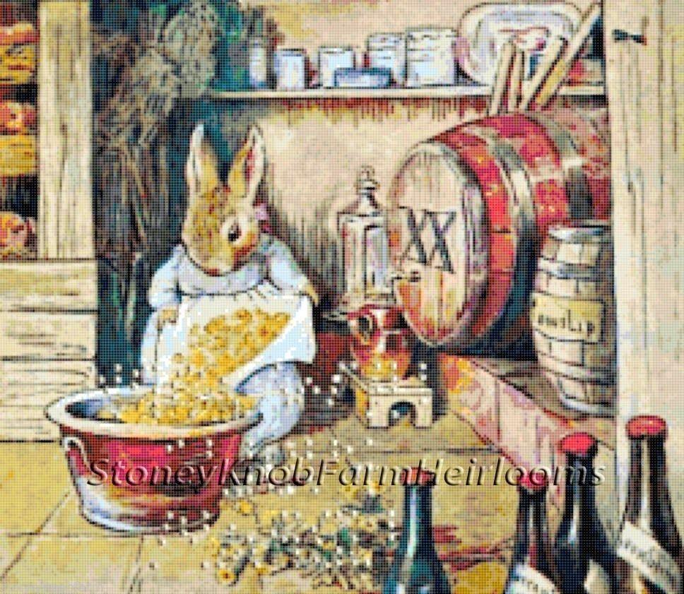 Cecily Parsley's Nursery Rhymes ~ Beatrix Potter ~ Cross Stitch Pattern #StoneyKnobFarmHeirlooms #CountedCrossStitch