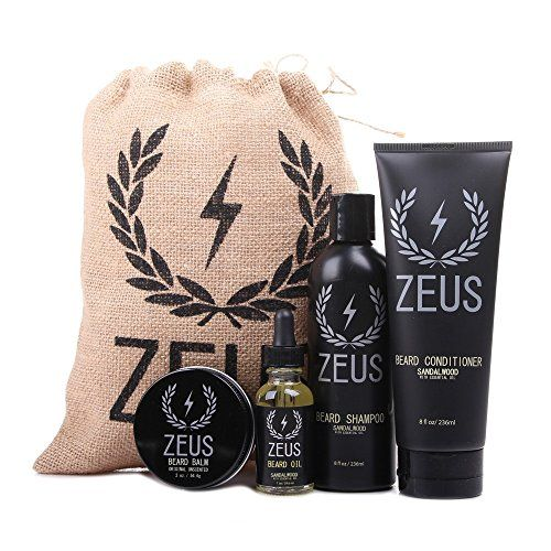 Zeus Everyday Beard Grooming Kit Mens Daily Set for ...