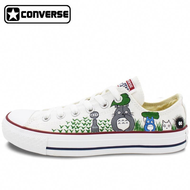 f934847d29ce4f Low Top Women Men Converse All Star My Neighbor Totoro Design Custom Hand  Painted Shoes Woman Man Canvas Shoes Boys Girls  ReviewWomensrunningShoes