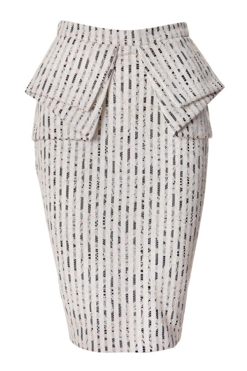 Sheike LACE PEPLUM SKIRT | faldas | Pinterest | Falda, Vestiditos y ...