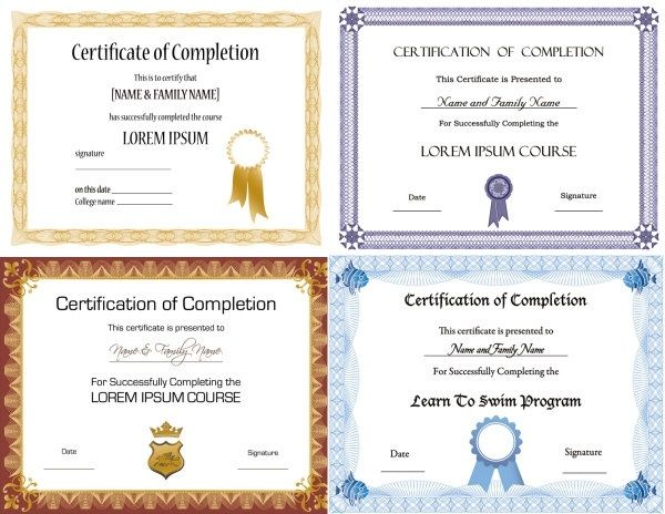 beautiful certificate templates Templates Pinterest - free templates for certificates of completion