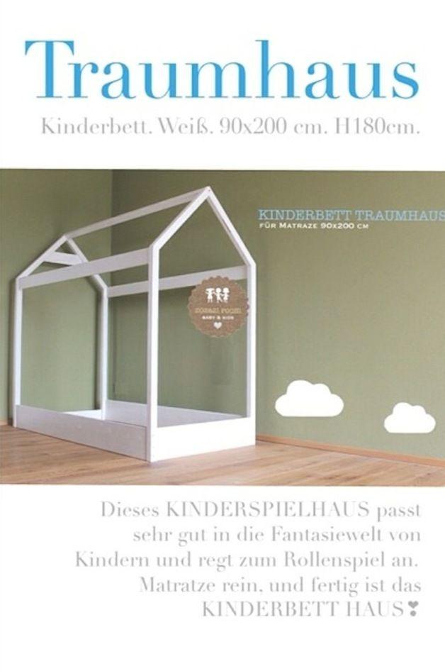 Kinderbett häuschen  TRAUMHAUS XL ⭐ KINDERBETT 90 x 200 cm | Kinderspielhaus ...
