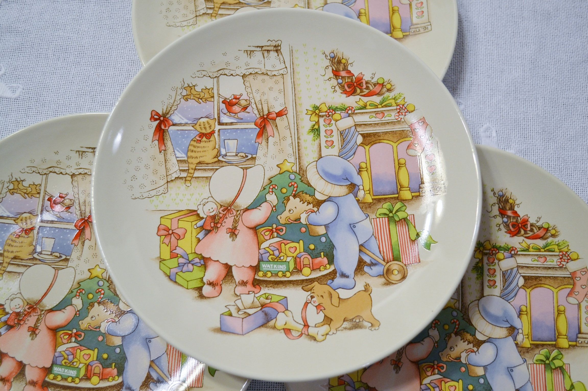 Vintage Country Kids Dessert Plate Set of 4 Plate 3 of 6 Watkins Hearts Spring Collectible & Vintage Country Kids Dessert Plate Set of 4 Plate 3 of 6 Watkins ...