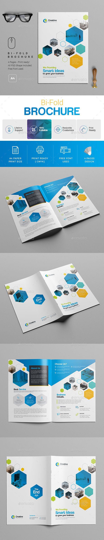 bi fold brochure template best brochure templates pinterest