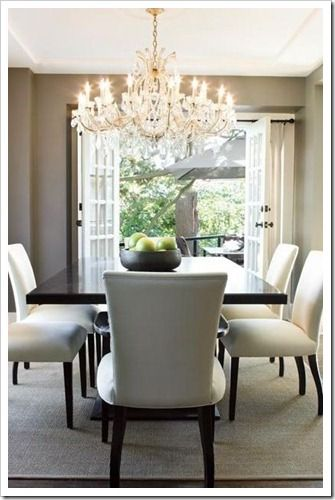 I got an oversized chandelier for my birthday and can't wait to put it up!  The neighbors may think I am crazy when they see it!