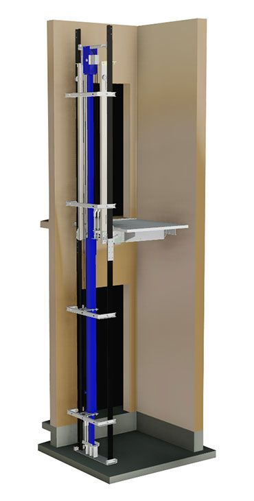Elevator hybrid hydraulic traction roped one jack for Home elevator kits