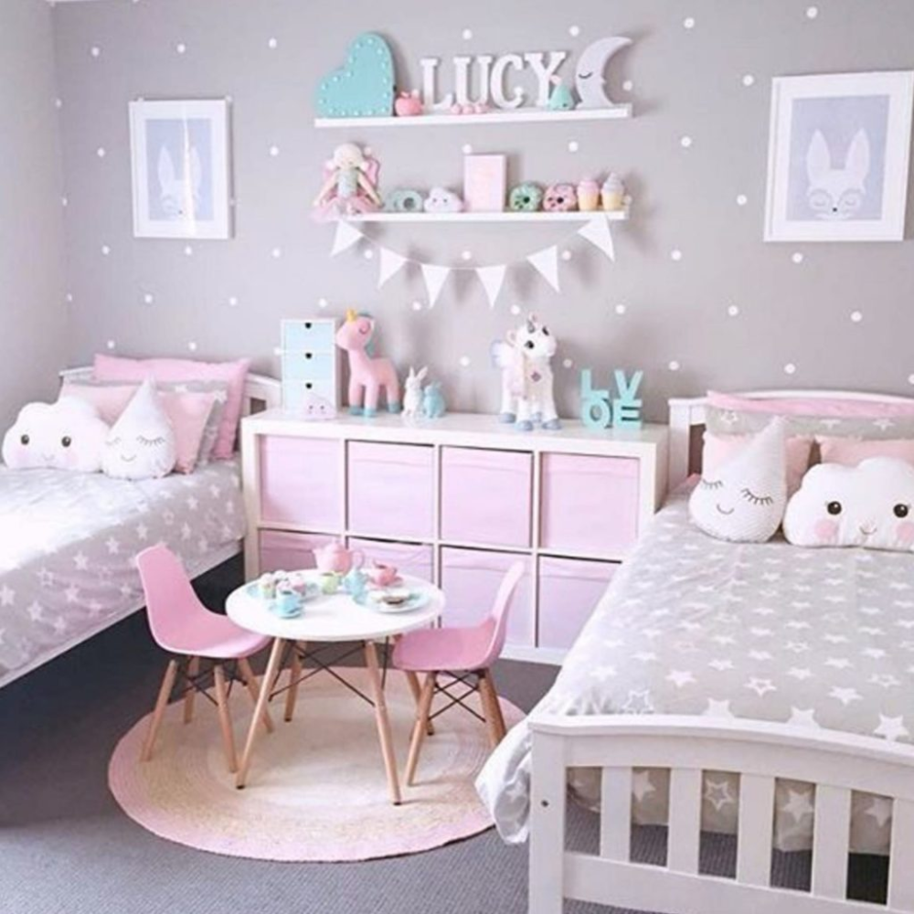 Girly-Girl Room Decorating Ideas On a Budget • These little girl