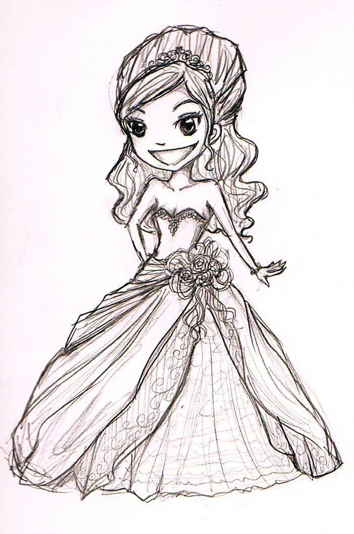 Drew a wedding chibi because i love the show say yes to the dress