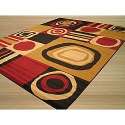 @Overstock - A beautiful abstract cubist-inspired pattern and 220,000 points per square meter, spotlight this contemporary Cubismo rug. Featuring a heat-set olefin construction, this rug also offers a rich black, red and beige color palette.http://www.overstock.com/Home-Garden/Cubismo-Black-Rug-311-x-55/6562604/product.html?CID=214117 $47.69