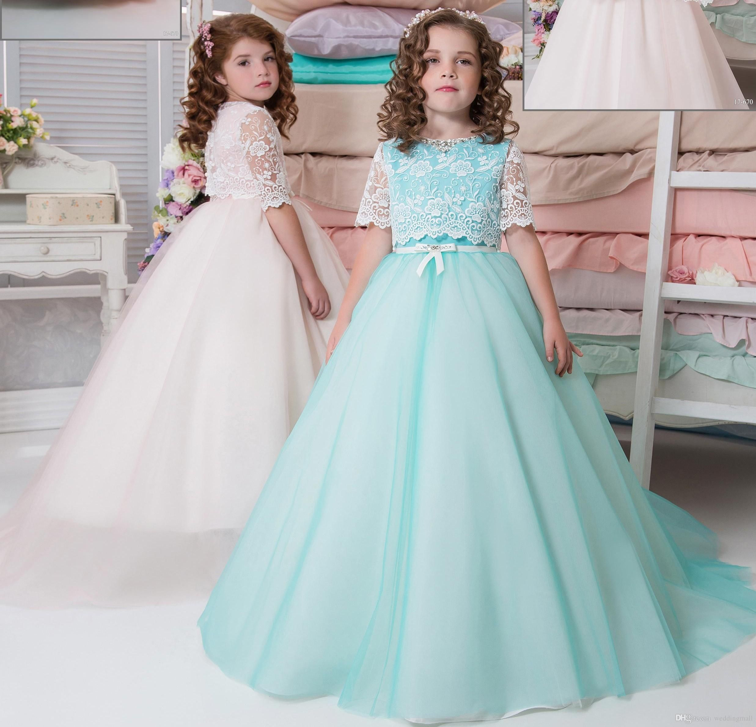 Two pieces arabic 2017 lace flower girl dresses vintage child two pieces arabic 2017 lace flower girl dresses vintage child dresses beautiful flower girl wedding dresses f0707 ombrellifo Choice Image