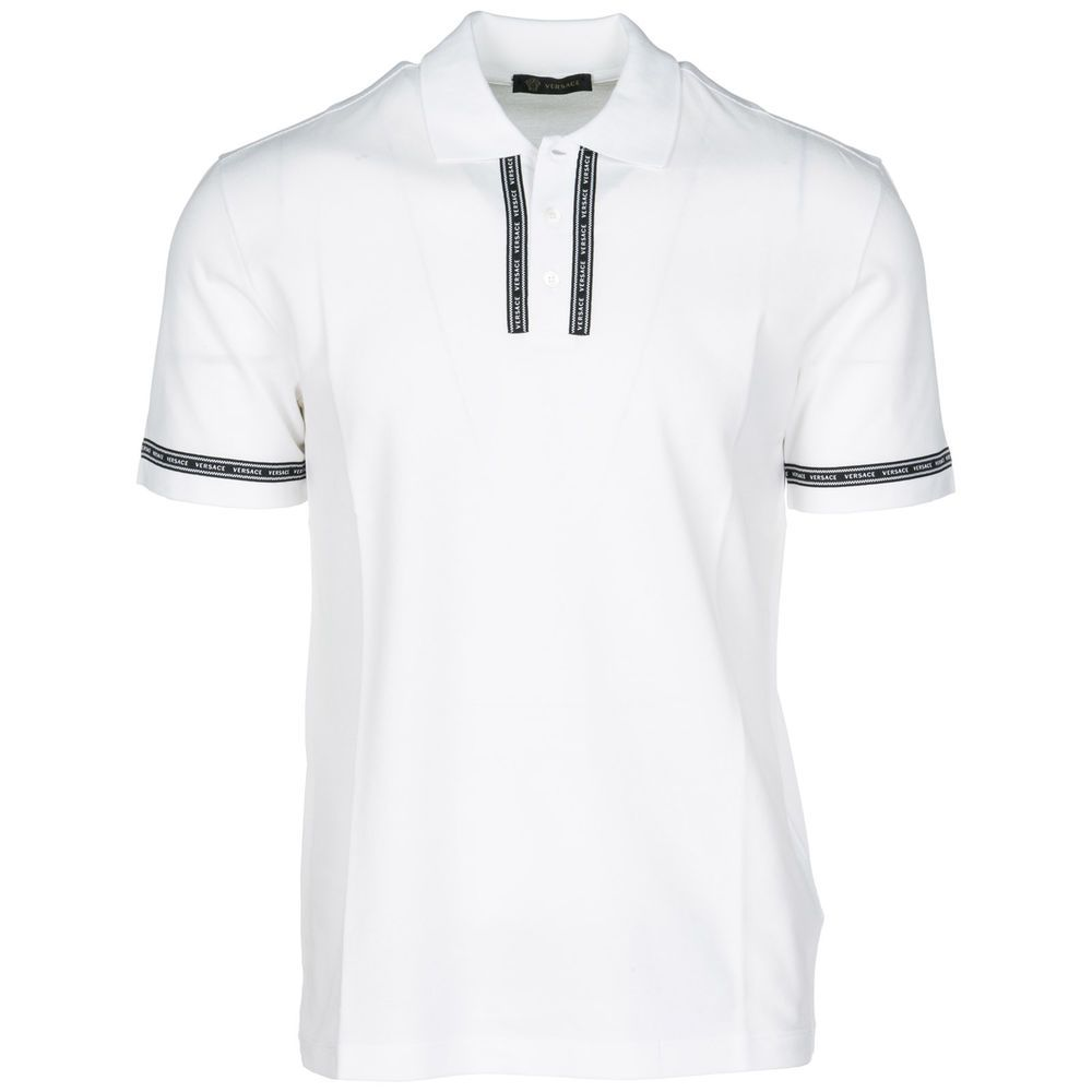 a4109cfaf eBay #Sponsored VERSACE MEN'S SHORT SLEEVE T-SHIRT POLO COLLAR NEW WHITE 901