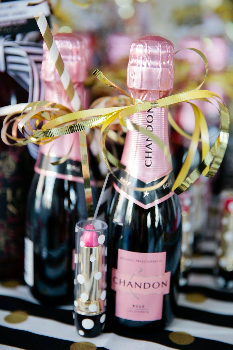 Kate Spade Lingerie Shower, mini champagne favor | lingerie shower ...