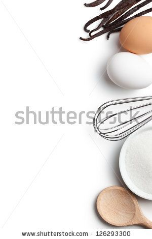 Cooking Concept Ingredients And Kitchen Tools On White Background