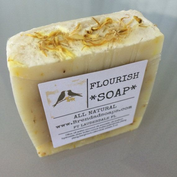 A beautiful bar of soap, with a hint of rose,and a sweet, exotic, floral,citrus scent you will adore! Calendula has been used medicinally for centuries. Calendula has a high content of flavonoids, that act as anti-oxidants in the body.Anti-oxidants are thought to protect body cells from damage.Olive oil, water, coconut oil, avocado oil, sodium hydroxide, shea butter, cocoa butter, essential oil, calendula petals. 5.OZ | Shop this product here: http://spreesy.com/Brendadsoap/73 | Shop all of…