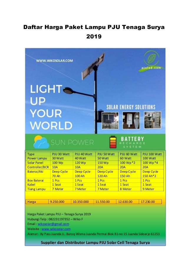 Daftar Harga Paket Lampu Pju Tenaga Surya Bondowoso Tahun 2019 Telp Solar Energy Solutions 100 Watt Solar Panel Solar Water Pump