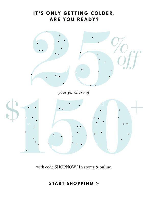 J.Crew Sale email design