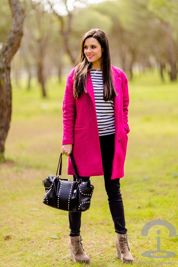 2019 Outfits Winter Mujer Abrigo Fucsia En Outfits Y qB8vO
