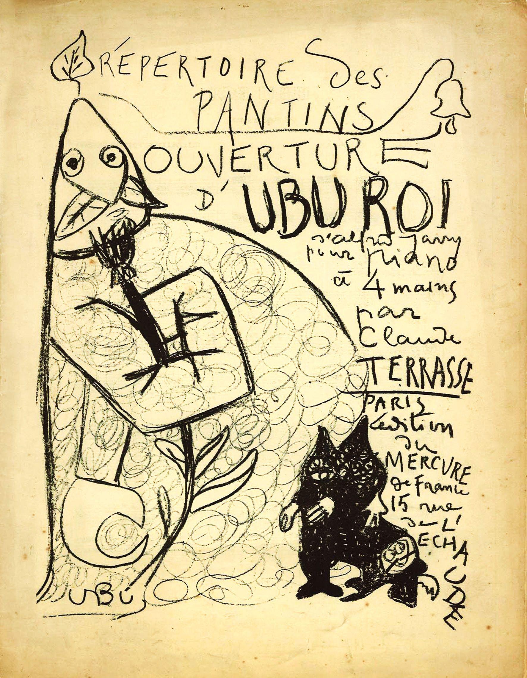 Alfred Jarry Ouverture D Ubu Roi Tire De Repertoire Des Pantins 1898 Lithographie Spencer Museum Of Art Literatura Ubu Rey Arte
