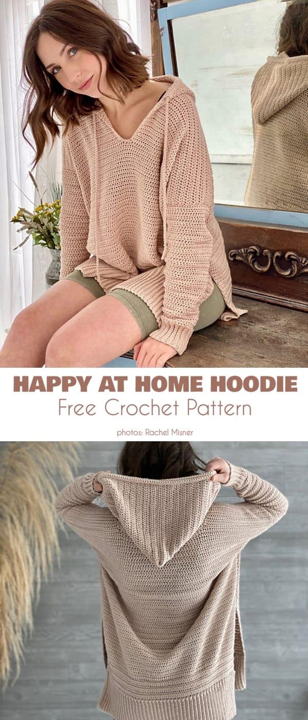 Women Hoodie Free Crochet Patterns