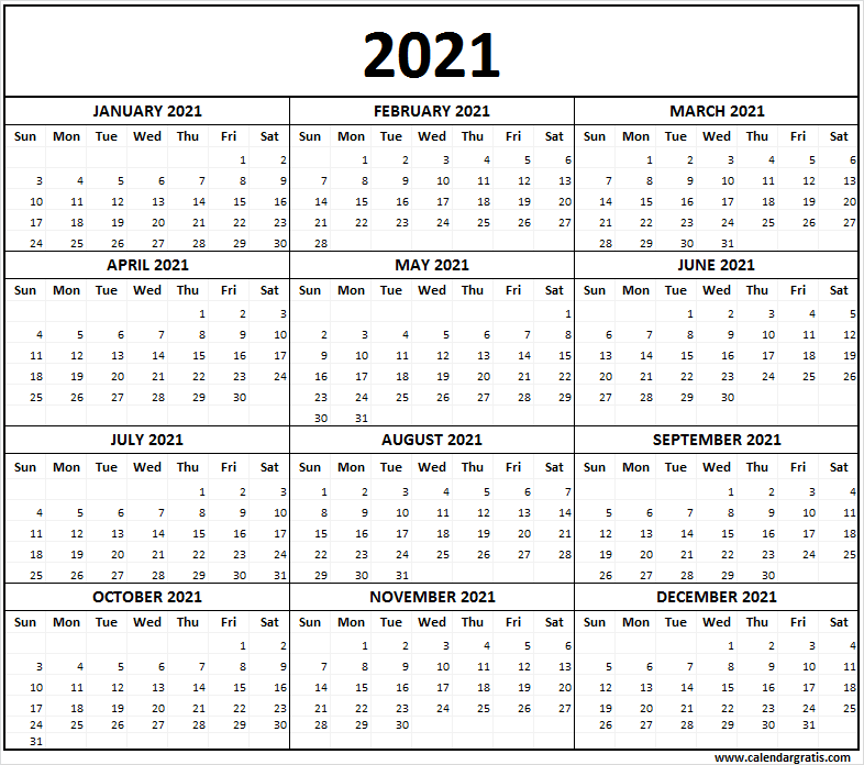 Blank 2021 Year Calendar Printable Template With Holidays In The United States In 2020 Free Printable Calendar Templates Printable Calendar Printable Calendar Template