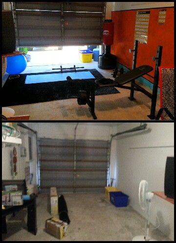 Garage turned into a gym what a great idea garage gym
