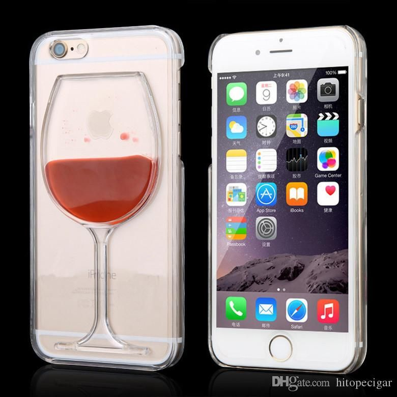 Hot Sale Red Wine Cup Liquid Stars Transparent Case Cover