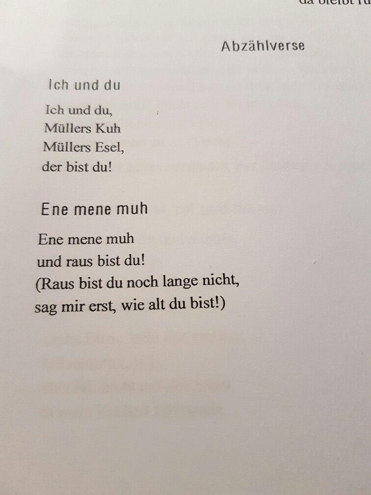 Abzählverse #abzählverse #reim #kind #erziehung #kinder | Deutsch ...