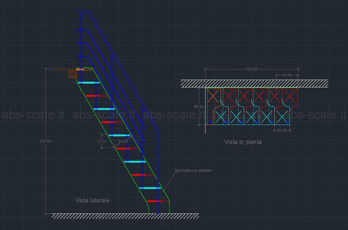Scegliere tra scala ripida e a pedata sfalsata cerca con for Disegnare una scala a chiocciola con autocad
